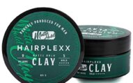Hairplexx Hair Clay Mens Hair Paste Matt Finish, Strong Hold with Textured & Modern Hairstyle - Paraben Free 80g / 2.82ounce