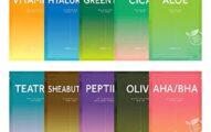Barulab K-Beauty Facial Mask Sheets, Assorted Value Pack 100% Vegan Mask [10ea] Daily Skin Care (aloe, cica, greentea, olive, aha.bha, peptide, sheabuter, teatree, vitaminc, hyaluron)