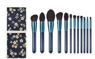 Kabuki Makeup Brush Set-Foundation Power Blush Concealer Countuor Brushes- Perfect For Liquid Cream Mineral Products-12 Pcs Collection With Premium Synthetic Bristles For Eye and Face Cosmetic With Bag