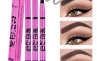 Kilshye Eyebrow Tattoo Pen Long Lasting Eyebrows Waterproof Eyebrows Create Natural Brows Micro Fork Tip Applicator Professional Eye Cosmetics for Women and Girls Pack of 1 (Black 1)